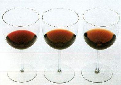 Оттенки вина, смягчающиеся по мере созревания